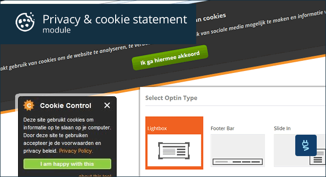Privacy & cookie statement module