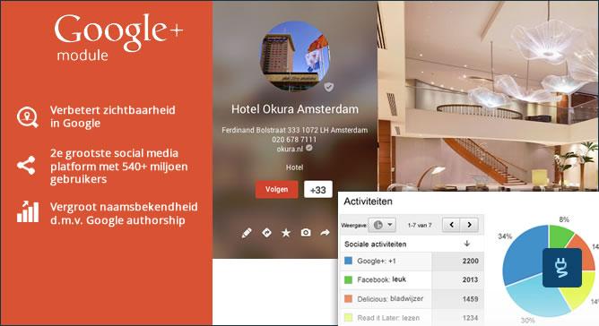 Google+ vermelding inrichten module
