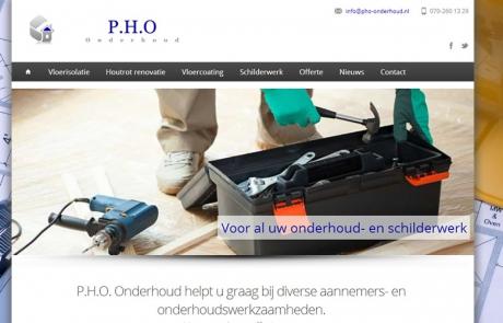 De nieuwe website van pho onderhoud door Local Internet