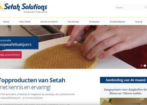 Aangepaste website van Setah Solutions door Local Internet