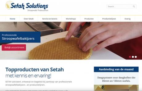 Aangepaste website van Setah Solutions door Local Internet