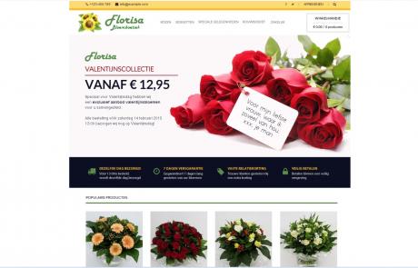 Webdesign website Bloemboetiek florisa