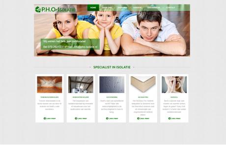 Webdesign pho isolatie